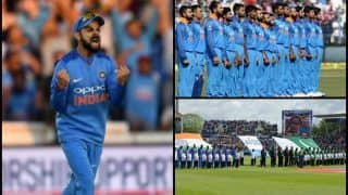 India vs England 3rd ODI Headingley: Indian Captain Virat Kohli Gets Patriotic While Reliving India vs Pakistan ICC Champions Trophy Final 2017 National Anthem --WATCH