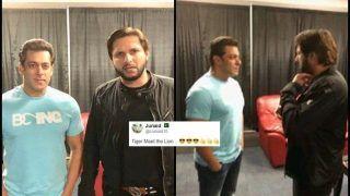 When Former Pakistan Cricketer Shahid Afridi Met Bollywood Actor Salman Khan