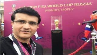 FIFA World Cup 2018 Finals: France Beat Croatia -- Former Indian Captain Sourav Ganguly Becomes First Cricketer to Be Snapped With The Cup