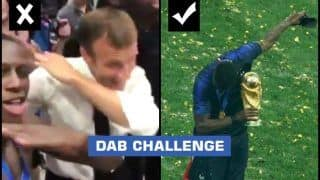 FIFA World Cup 2018 Final: After Paul Pogba, French President Emmanuel Macron Attempts The Dab After France Beat Croatia, Fails Miserably  -- WATCH
