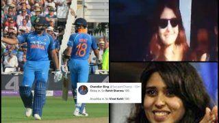 India vs England 1st ODI: Virat Kohli Hits Fifty, Rohit Sharma Slams 18th Ton, Twitter Thank Anushka Sharma, Ritika Sajdeh