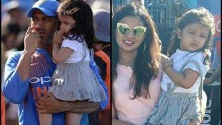 India vs England: MS Dhoni-Ziva Share an Adorable Father-Daughter Moment at Bristol