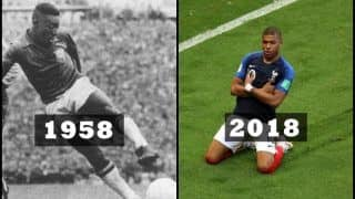 FIFA World Cup 2018: Kylian Mbappe Becomes First Teenager Since Pele in 1958 to Score Twice in Tournament Game