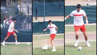 Wimbledon 2018: Novak Djokovic Flaunts Off His Football Skills Ahead of Semi-Final Against Rafael Nadal -- WATCH