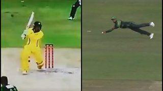 Pakistan vs Australia T20I Finals: Watch Shadab Khan Take A Brilliant One-Handed Catch to Dismiss Alex Carey