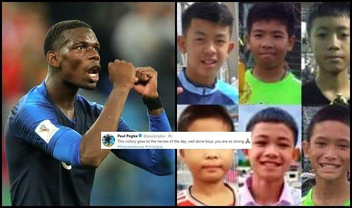 France v Begium France v Begium. French star footballer Paul Pogba  dedicates France s semi-final win over Belgium to the Thai Cave ... 7c7eb7364c