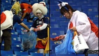 FIFA World Cup 2018: After Senegal, Japan Fans Win Hearts by Cleaning Stadium After Loss to Belgium 2-3