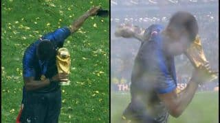 FIFA World Cup 2018 Finals Luzhinki Stadium: France Beat Croatia -- Manchester United Paul Pogba Creates History, Becomes First Ever Footballer to Dab With The World Cup