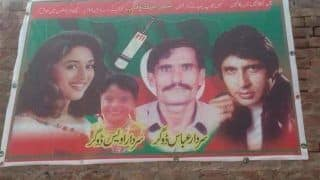 Pakistan Elections 2018: Amitabh Bachchan And Madhuri Dixit Find a Place in Imran Khan-Led PTI Candidate's Poster; Twitterati Love it