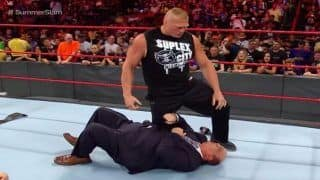 WWE Superstar Brock Lesnar Loses Temper, Slams General Manager Kurt Angle And His Own Mentor