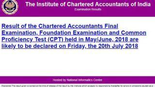 CA, CPT Result 2018: ICAI आज घोषित कर सकता है नतीजे, icai.nic.in पर ऐसे चेक करें