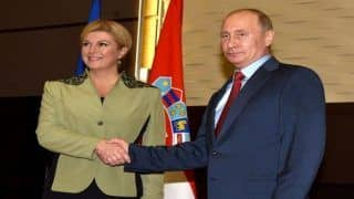 Croatian President Arrives in Sochi to Attend World Cup Match
