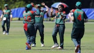 WATCH | Dramatic Collapse: Fahima Khatun bags hat-trick as Bangladesh Women thrash UAE Women in ICC World T20 Qualifier 2018
