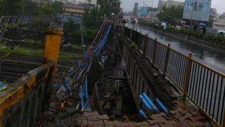 Mumbai Rains: Seven Injured as Portion of Footover Bridge Collapses Near Andheri Railway Station; Piyush Goyal Orders Inquiry
