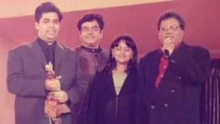Karan Johar Shares Throwback Picture on Instagram; Receives Award From Sonakshi Sinha - View Picture