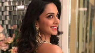 Lust Stories Fame Kiara Advani Sparkles in Golden Shimmery Lehenga-View Pictures