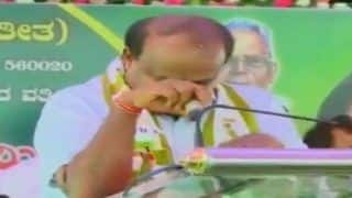 H D Kumaraswamy Breaks Down at Event, Says CM Post is Not Bed of Roses, Swallowing Pain of Coalition Govt