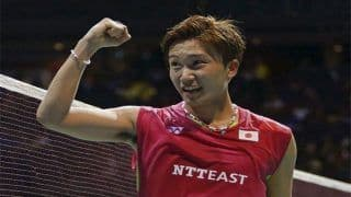 Japan's Kento Momota Defeated Danish World No 1 Viktor Axelsen 21-14, 21-9 to Win The Indonesia Open Badminton Tournament