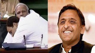 Akhilesh Yadav Takes Jibe on Rahul Gandhi For Hugging PM Modi, Says no One Would Even Shake Hands, if you Jump to Hug Someone
