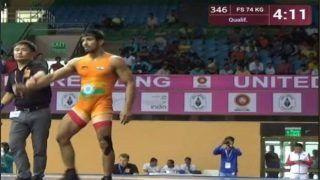 Indian Wrestler Sachin Rathi Wins Gold beating Bat-Erdene of Mongolia in 74 kg Category at Junior Asian Championships 2018
