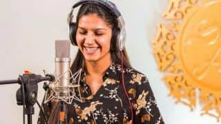 Haryanvi Bombshell Sapna Choudhary Flaunts Her Million Dollar Smile as She Tries Her Hands at Music- View Picture
