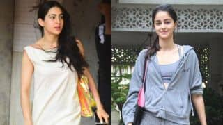 Sara Ali Khan And Ananya Pandey Go Out Looking Mesmerising After Their Workout Session