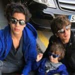 Shah Rukh Khan, Aryan Khan and Abram Khan Wear Matching Sneakers on Their Vacation in Barcelona