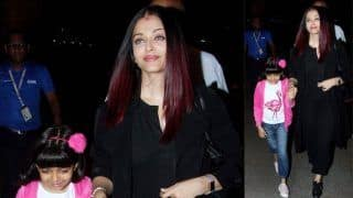 Aishwarya Rai Bachchan Looks Gorgeous in All-Black Pantsuit Along With Daughter Aaradhya at The Airport - View Pictures