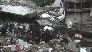 Agra: Building Collapses in Fawara Market Following Heavy Rainfall; no Casualties Reported