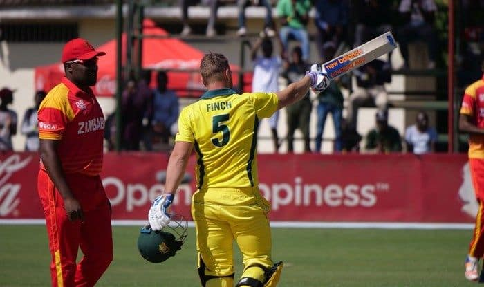 Finch surpassed his highest T20I score in the series. (Cricket Australia)