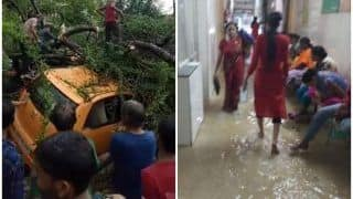 यूपी: बारिश से 24 घंटे में 10 की मौत, लखनऊ में अस्पतालों, घरों में भरा पानी, सड़कें धंसी, पेड़ गिरे, देखें PHOTOS