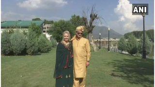 कश्मीरी कल्चर के मुरीद पौलेंड के जोड़े ने झेलम किनारे रखी शादी की दावत