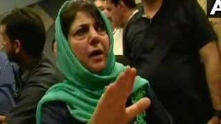 Ex-Jammu and Kashmir CM Mehbooba Mufti Holds Protest Against Ban on Jamaat-e-Islami