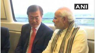 VIDEO: पीएम मोदी और द. कोरिया के राष्ट्रपति मेट्रो की सवारी कर नोएडा पहुंचे