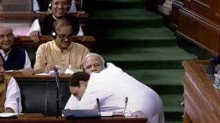 PM Modi Uses 'Hate, Fear And Anger' to Build His Narrative: Rahul Gandhi After His 'Hug-And-Wink' in Lok Sabha