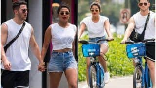 Priyanka Chopra and Nick Jonas Twin as They Cycle on The Streets of New York - See Pics