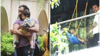 Taimur Ali Khan Enjoys Rainy Evening With Dad Saif Ali Khan, Check Cute Pictures