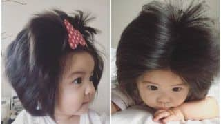 7-month-old Japanese Baby Chanco's Long Hair Pictures Are Going Viral