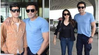 Bobby Deol's Spotted with Family at Mumbai Airport, Son Aryaman Deol Camera Shy?