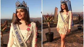 Miss World Manushi Chhillar Looks Flawless As She Gives Tribute To Nelson Mandela