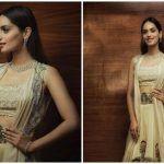 Manushi Chhillar Looks Hot in a White Anamika Khanna Ensemble