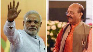 भगवा अवतार में दिखे अमर सिंह बोले, 'मेरा जीवन अब प्रधानमंत्री मोदी को समर्पित'