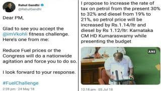 BJP Hits Back at Rahul Gandhi After Kumaraswamy Announces Over Re 1 Hike in Petrol And Diesel Prices in Karnataka