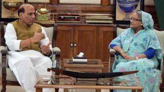राजनाथ ने बंग्लादेश के प्रधानमंत्री से की मुलाकात, आपसी चिंता के मुद्दों पर हुई चर्चा