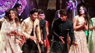 Shah Rukh Khan Dances to Gal Mithi Mithi, Ranbir Kapoor, Alia Bhatt, Arjun Kapoor Join Him at Akash Ambani and Shloka Mehta's Engagement