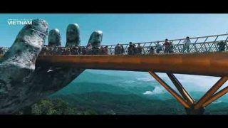 दो हाथों पर टिका है वियतनाम का गोल्डन ब्रिज, देखें VIDEO