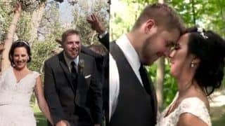 Newlywed Couple Escapes Being Hit by Huge Tree Branch During Their Dreamy Photoshoot; Video Goes Viral