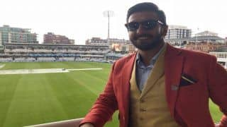 India vs England 2nd Test Day 1 Lord's: Rain Washes Off Play, But Bollywood Actor Ranveer Singh Shines in a Red Blazer at Venue -- PIC