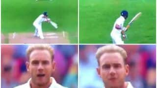 India vs England 3rd Test Day 2 Trent Bridge: Stuart Broad Bowls Rishabh Pant, Then Gives Him a Send-Off -- WATCH