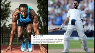 India vs England Tests: ICC Test No 1 Virat Kohli Challenges Jamaican Sprint-King Usain Bolt, Sprinter Puts His Favourite Spikes on Line